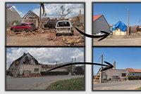 Morava postižená tornádem se probouzí: Nové střechy, čisté ulice a hlavně naděje!