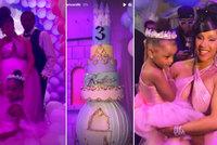 Rapperka Cardi B dopřála dceři pohádkovou oslavu: Extravagantní narozeniny pro malou princeznu!
