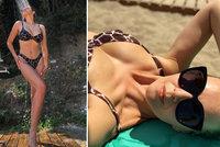 Krásná Kubelková (44) i její dcera (16) předvedly stejné plavky! Jaká matka, taká... Natka?