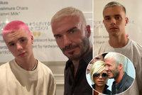Beckham se syny změnil image... Stejně jako v devadesátkách! směje se David