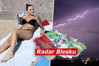 Po bouřkách se počasí v Česku umoudří. Závěr týdne bude tropický, sledujte radar Blesku