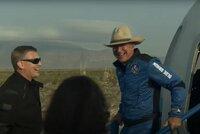 """""""Nejlepší den vůbec!"""" Miliardář Bezos se svou raketou nakoukl do vesmíru"""