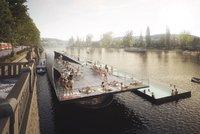 Luxusní koupání ve Vltavě: Projekt plovoucích lázní získal mezinárodní ocenění. Postaví se?