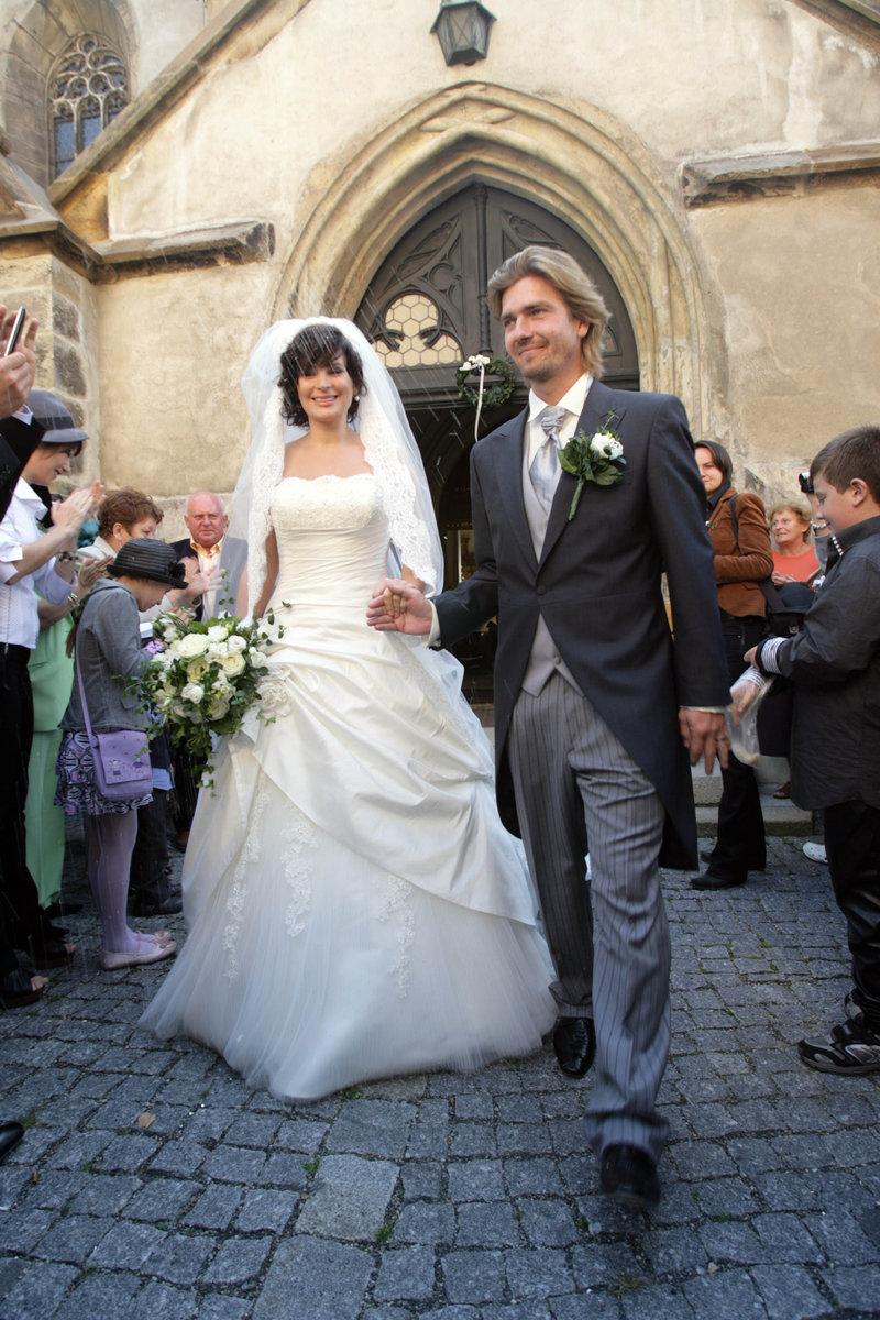 Novomanželé Jitka a Petr