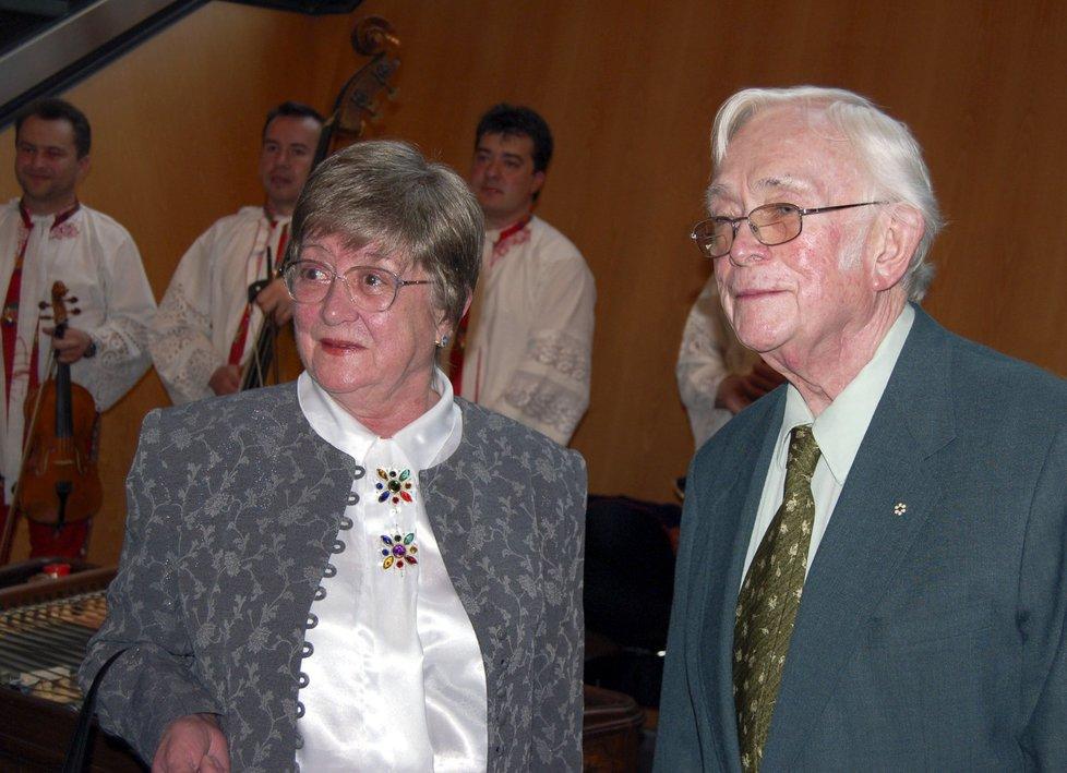 Josef Škvorecký s manželkou Zdenou.