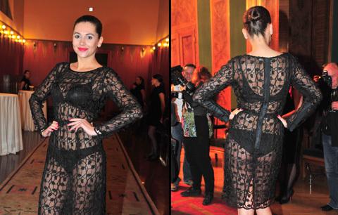 Hana Svobodová průhlednými šaty překvapila a zároveň šokovalo. Tohle nebyl ten nejlepší výběr.