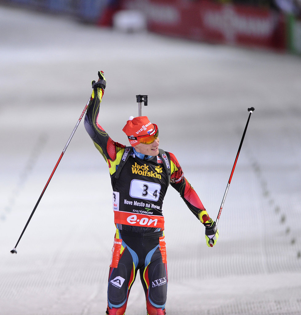 Český biatlonista Ondřej Moravec pomohl české smíšené štafetě k třetímu místu na MS