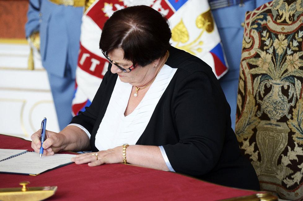 Benešové při jmenování současné úřednické vlády.