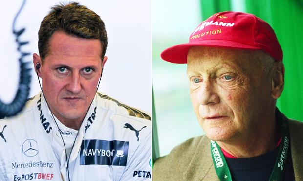 Niki Lauda se modlí za Michaela Schumachera