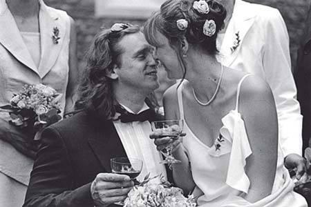 Jan Potměšil na své svatbě.