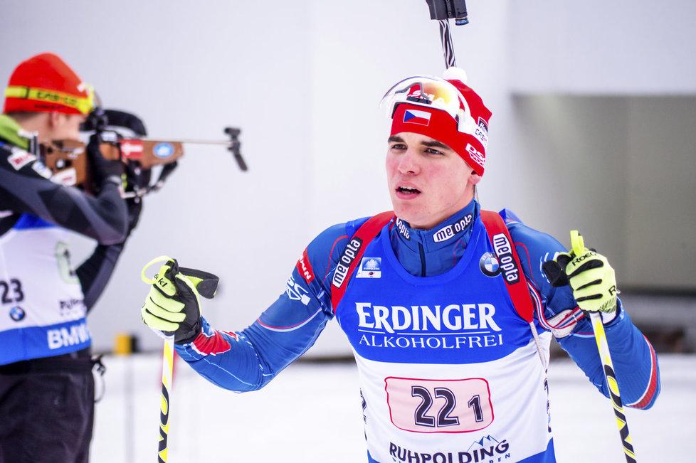 Biatlonista Michal Krčmář tentokrát rozjel českou štafetu velmi dobře
