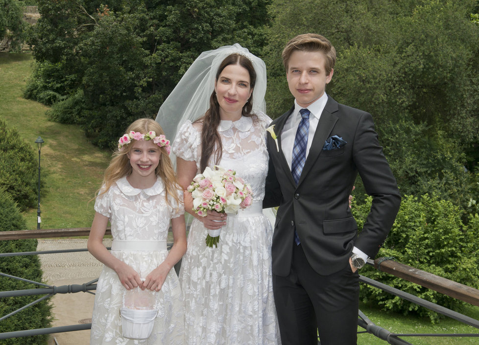 Svatbu si užila s dcerou Maruškou i synem Jakubem.