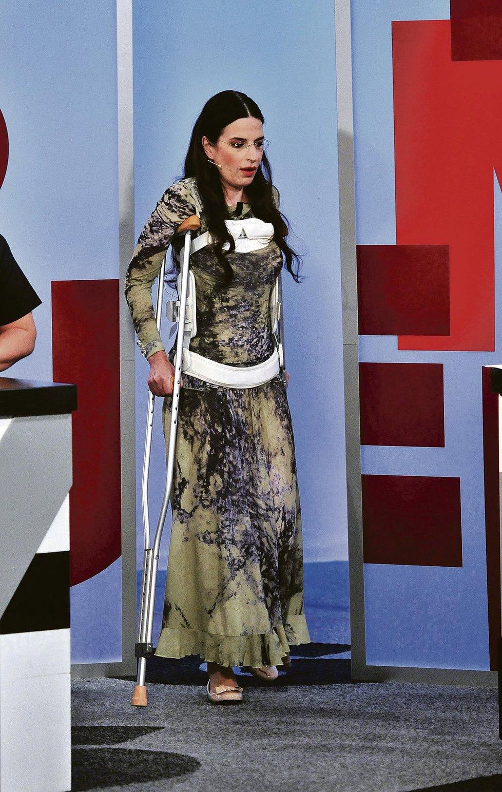 Michaela Jílková v jednom z odvážných modelů.