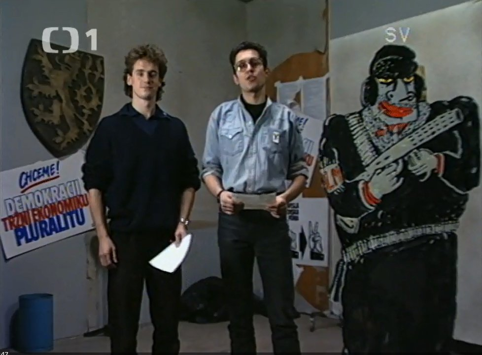 Prosinec 1989: Tak vypadal Potměšil na propagačním politickém videu těsně před nehodou.