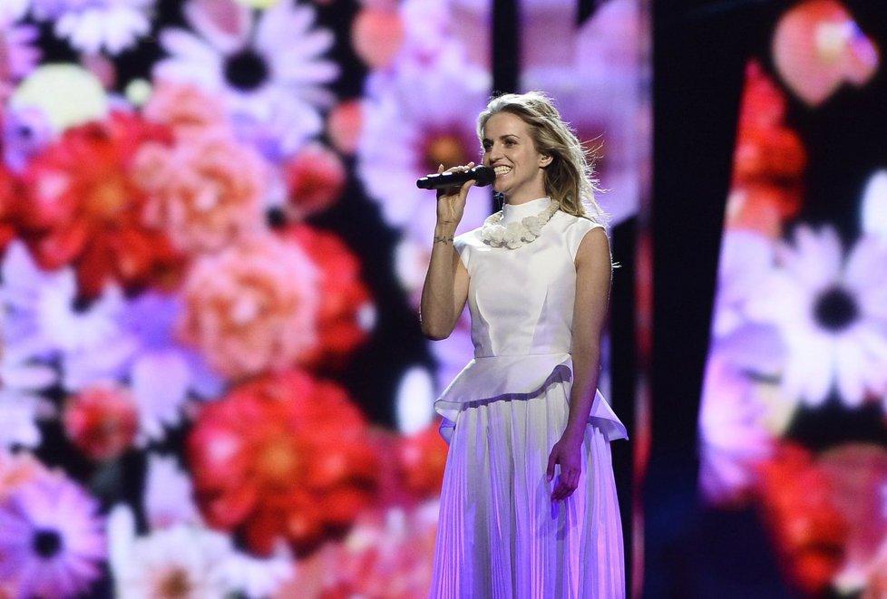 Gabriela Gunčíková na Eurovizi.