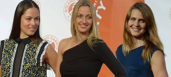 Ana Ivanovičová, Petra Kvitová a Lucie Šafářová neměly na hráčské párty konkurenci