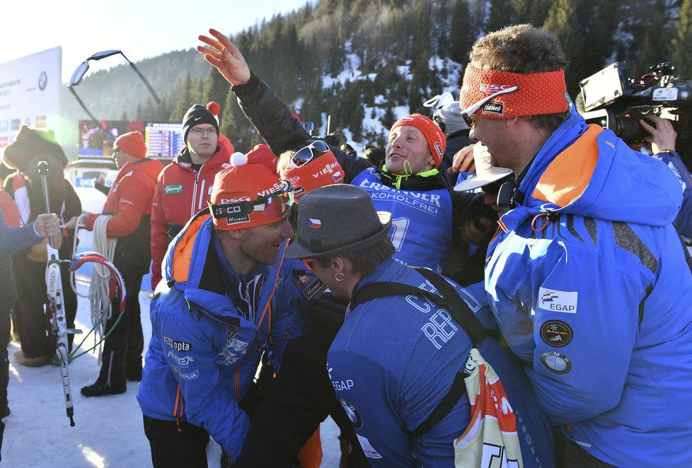 Český tým se chystá vyhazovat nad hlavu Ondřeje Moravce, který získal na MS stříbro v závodě na 20 km