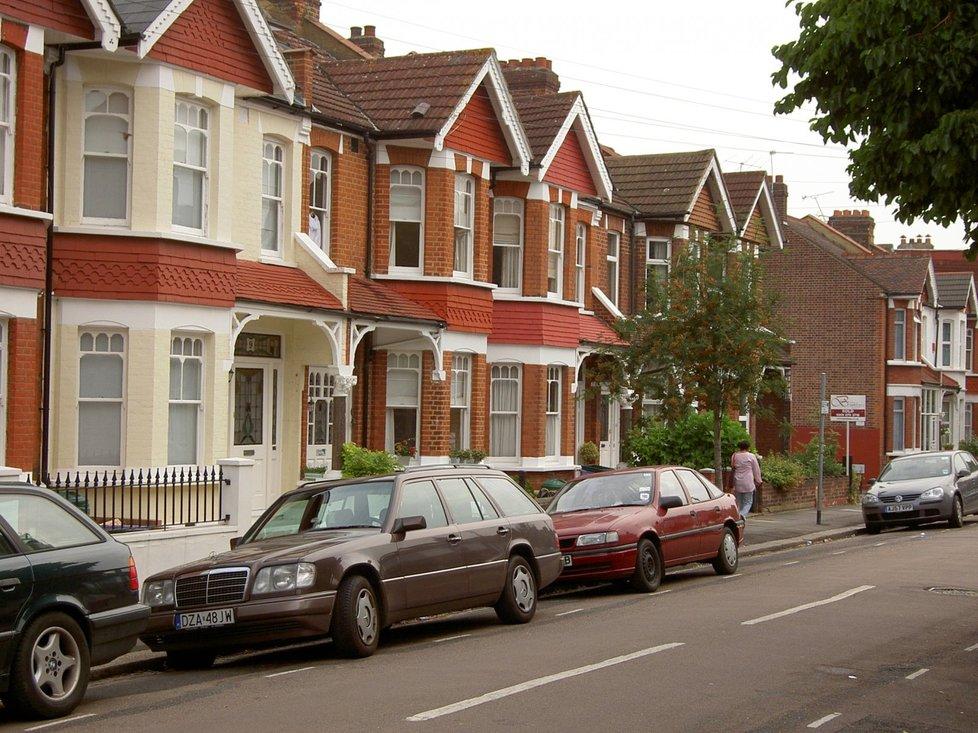 Pohled na ulici, kde Berdych se Šafářovou bydlí