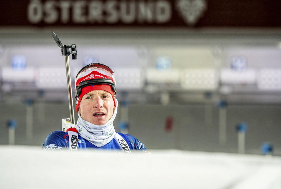 Ondřej Moravec před individuálním závodem na 20 km v Östersundu