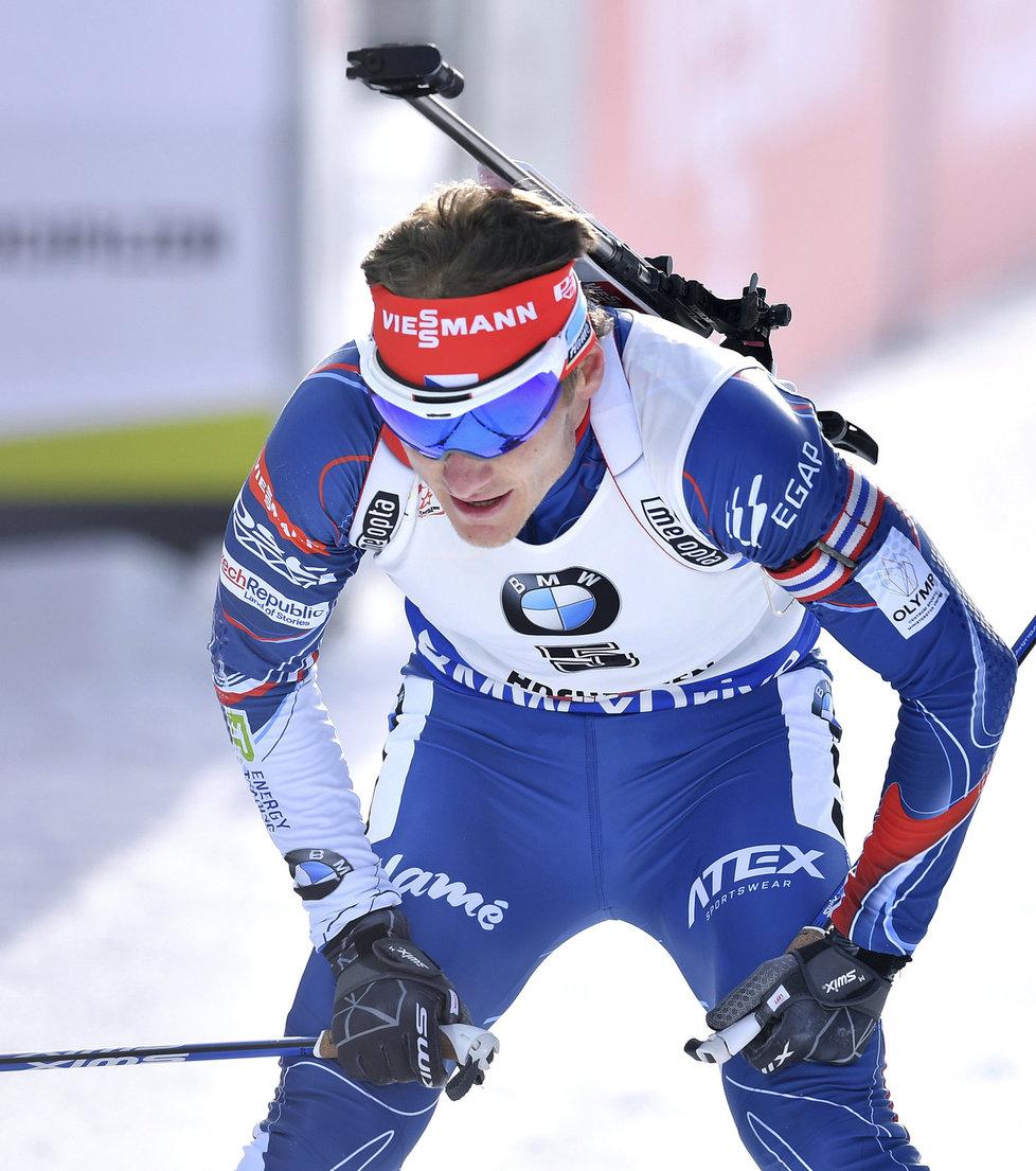 Ondřej Moravec předvedl ve stíhacím závodě slušný výkon