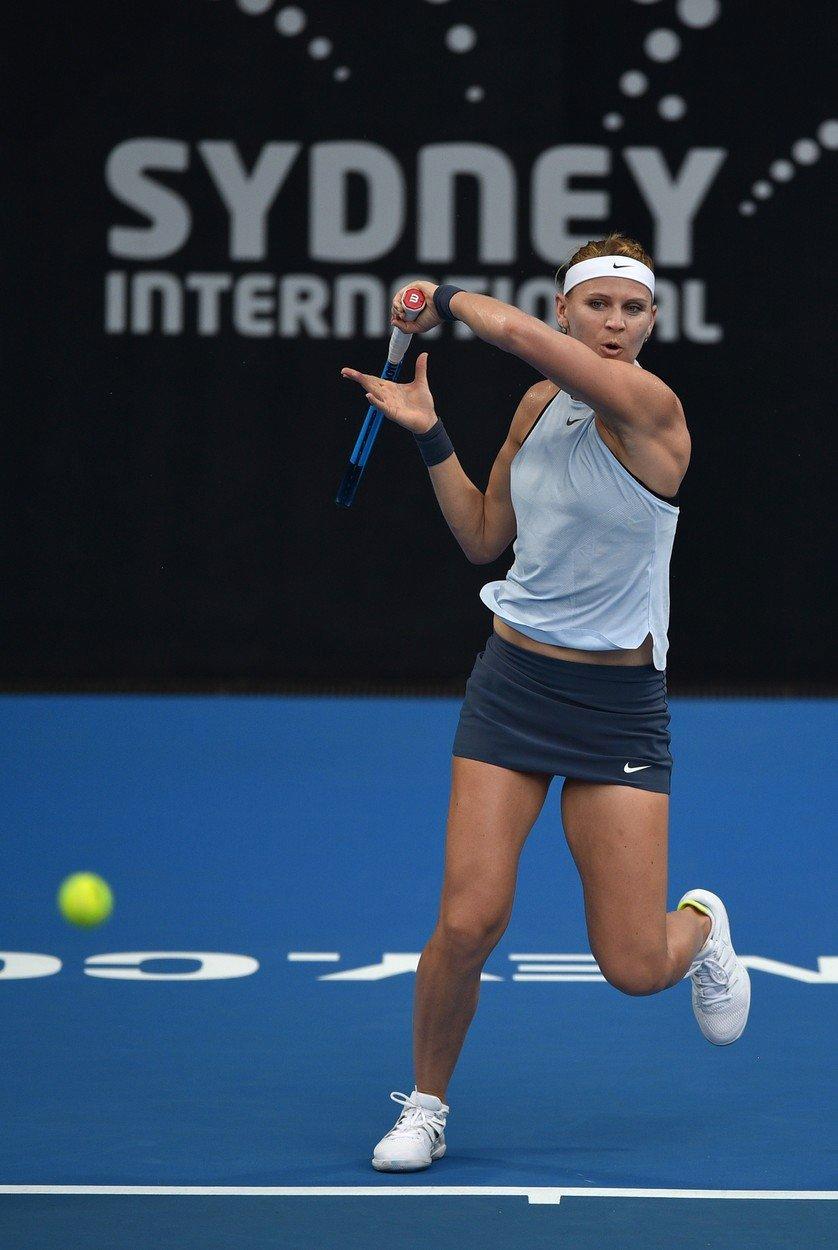Lucie Šafářová na turnaji v Sydney
