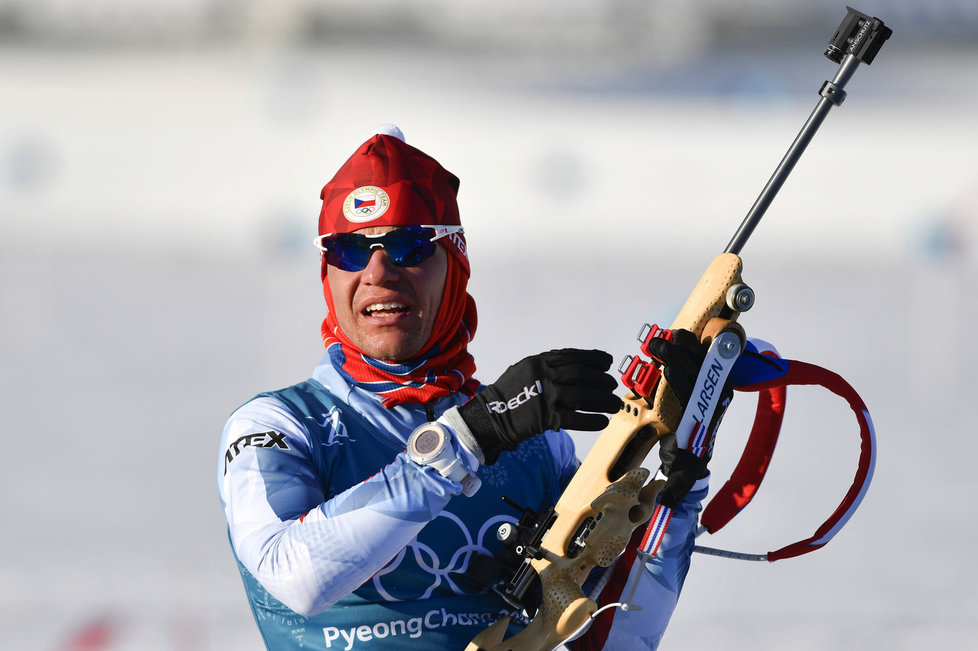 """""""Sníh bude přimrzlý,"""" říká o olympijské trati biatlonista Michal Krčmář"""
