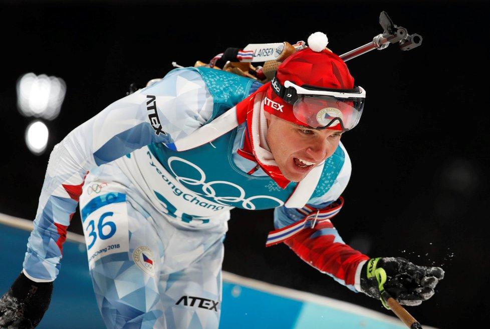 Michal Krčmář v cíli sprintu tuší, že právě zajel životní výsledek