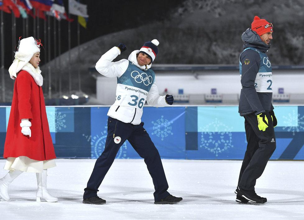 Michal Krčmář míří na stupně vítězů