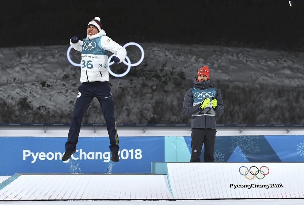 Ohromná radost Michala Krčmáře, který ukořistil stříbro ze sprintu