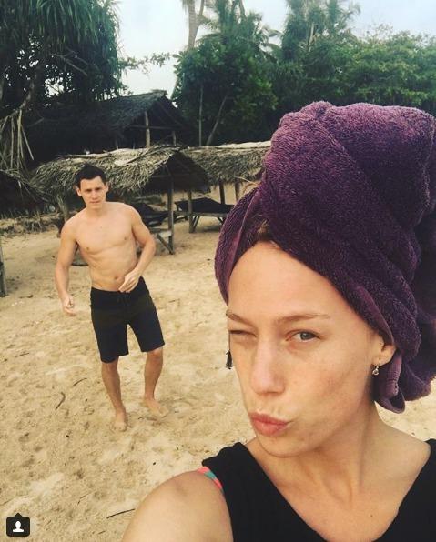 Aneta Krejčíková s přítelem na Srí Lance.