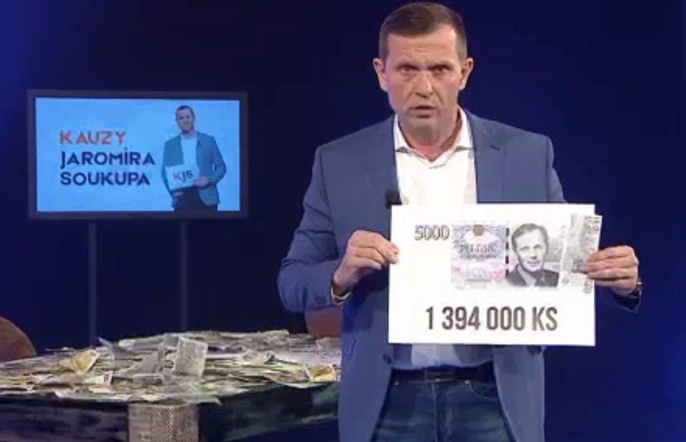 Realitní magnát Jaromír Soukup volá po zrušení koncesionářských poplatků. Na pětitisícovku si nechal dát ředitele ČT Dvořáka