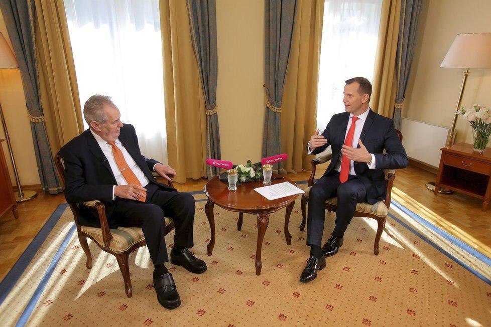 Miloš Zeman v pořadu Jaromíra Soukupa (21.3.2019)