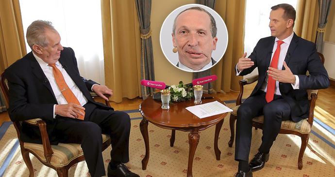 Prezident Miloš Zeman v pořadu TV Barrandov komentoval vyhazov Václava Klause ml.