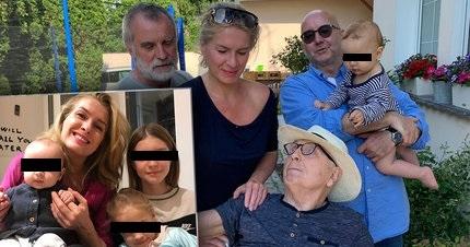 Olga Menzelová se svitou svých mužů: zleva režisér Jaroslav Brabec, manžel režisér Jiří Menzel a egyptolog Miroslav Bárta.