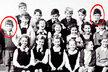 Kdo je v kroužcích na fotografii ze základní školy?