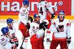 Smutní čeští hokejisté po prohře s Ruskem
