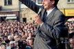 Miroslav Sládek na předvolebním mítinku v roce 1992
