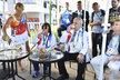 Prezident Miloš Zeman s manželkou Ivanou při návštěvě české olympijské vesnice v Riu
