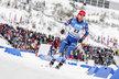 Michal Šlesingr na trati sprintu SP v Oberhofu, kde nakonec vybojoval druhé místo