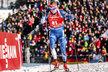 Ondřej Moravec na trati sprintu na MS biatlonistů v Hochfilzenu
