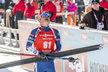 Ondřej Moravec v cíli sprintu na MS v Hochfilzenu. Medaile mu utekla poslední střelou.