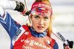 Gabriela Koukalová při nástřelu před sprintem SP v Kontiolahti