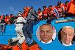 Podle premiéra Orbána financuje miliardář Soror (vpravo) migraci do Evropy