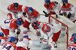 Koncentrace českého týmu před bitvou s Ruskem