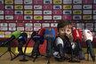 Syn Tomáše Rosického bavil novináře před začátkem tiskové konference