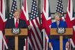 Americký prezident Donald Trump na státní návštěvě Británie.
