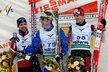 Na stupních vítězů. Zprava: Martin Jakš, Ital Pietro Piller Cottrer a Tord Asle Gjerdalen z Norska.