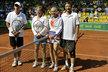 Tenisové legendy zleva Ivan Lendl, Hana Mandlíková, Jana Novotná a Miloš Mečíř.