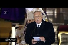Projev prezidenta Václava Klause v chrámu sv. Víta