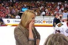 Kobzanová sbalila hokejku! Divoká líbačka s Frolíkem po výhře Stanley Cupu